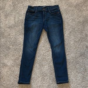 express mid rise skinny jean size 8 SHORT